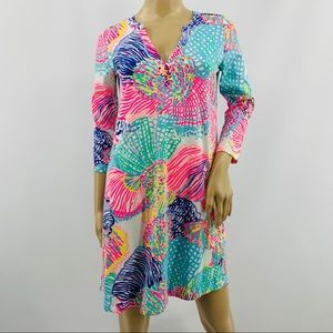 Lily Pulitzer Bright Color Floral Tunic Dress